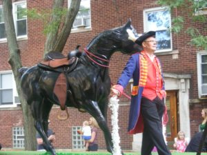 "A float honors Gen. Baron Von Steuben in recent ""German Day"" parade through Lincoln Square. Photo by Patrick Butler"